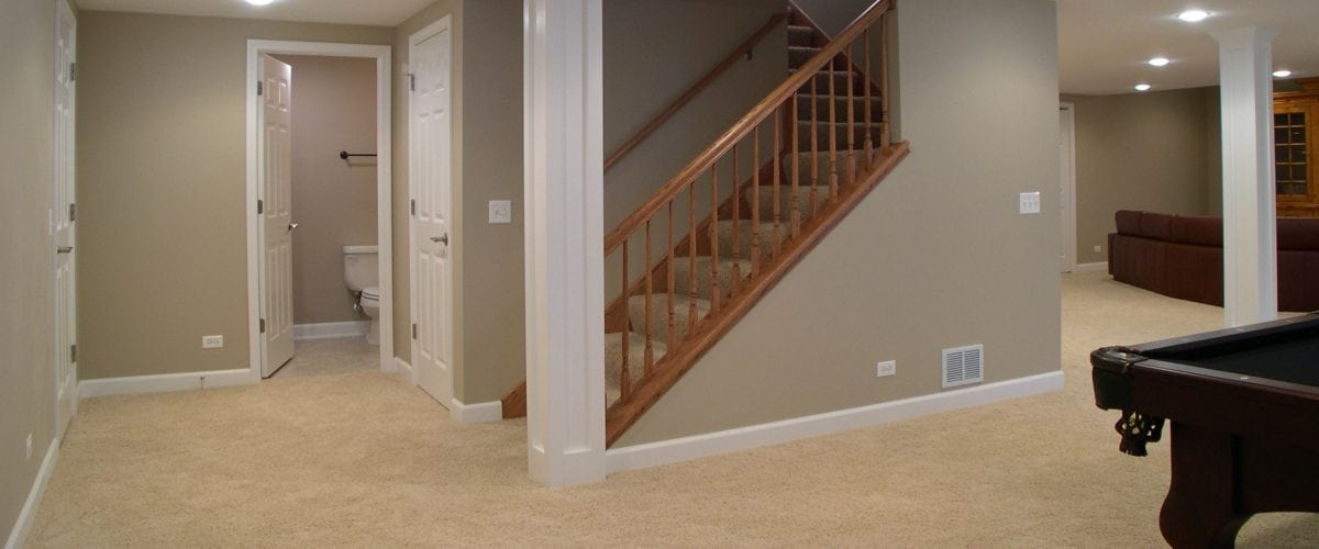basement with stairs